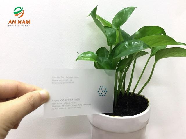 Translucent Plastic Paper (Matte) 255gsm