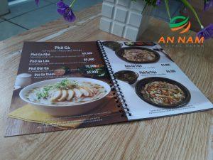 menu nhựa