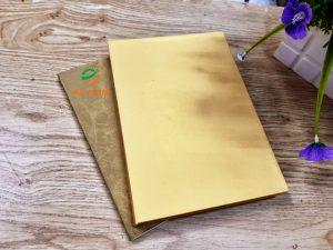 làm bìa sổ tay từ giấy bao bì cao cấp