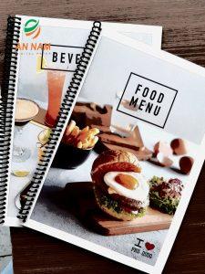 Mẫu menu phù hợp với quán trà sữa và cafe