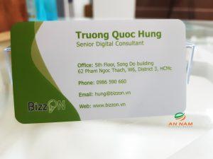 card visit giấy nhựa dày