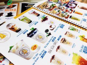 menu giấy nhựa mỏng